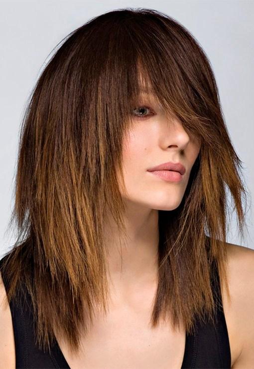 Стрижки на длинные волосы 2016 года женские - 90