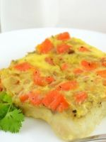 Рыба в духовке с морковью и луком