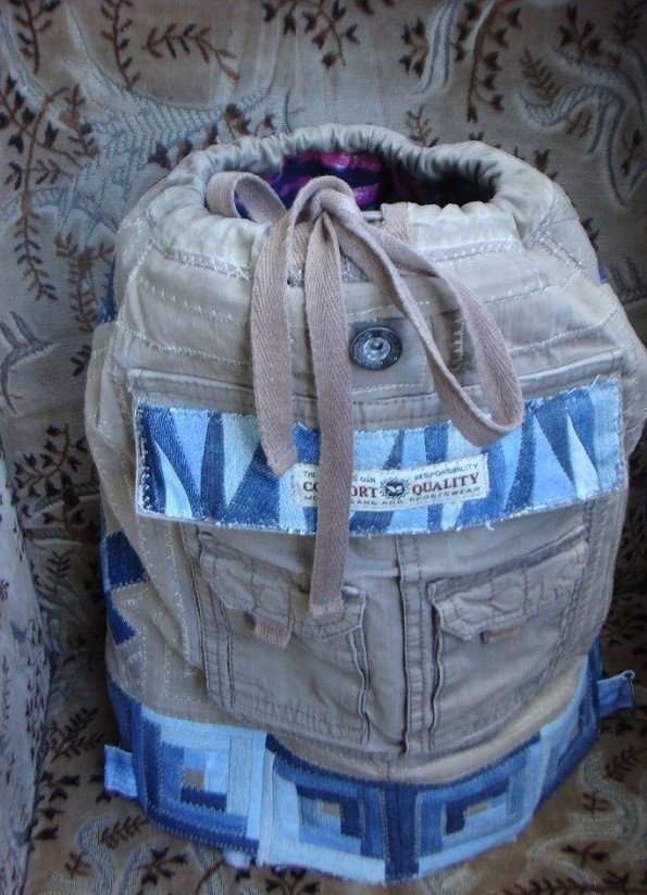 Детский рюкзак своими руками из старых джинс