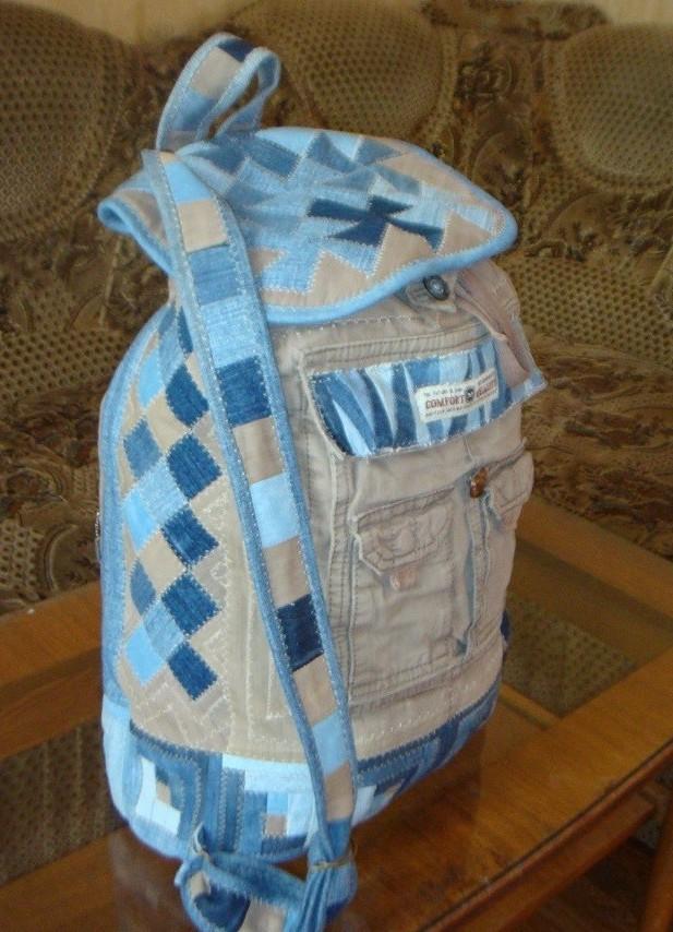 Рюкзак своими руками из старых джинс