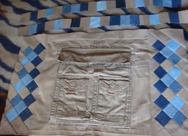 Как сшить лоскутки из джинсы фото 761