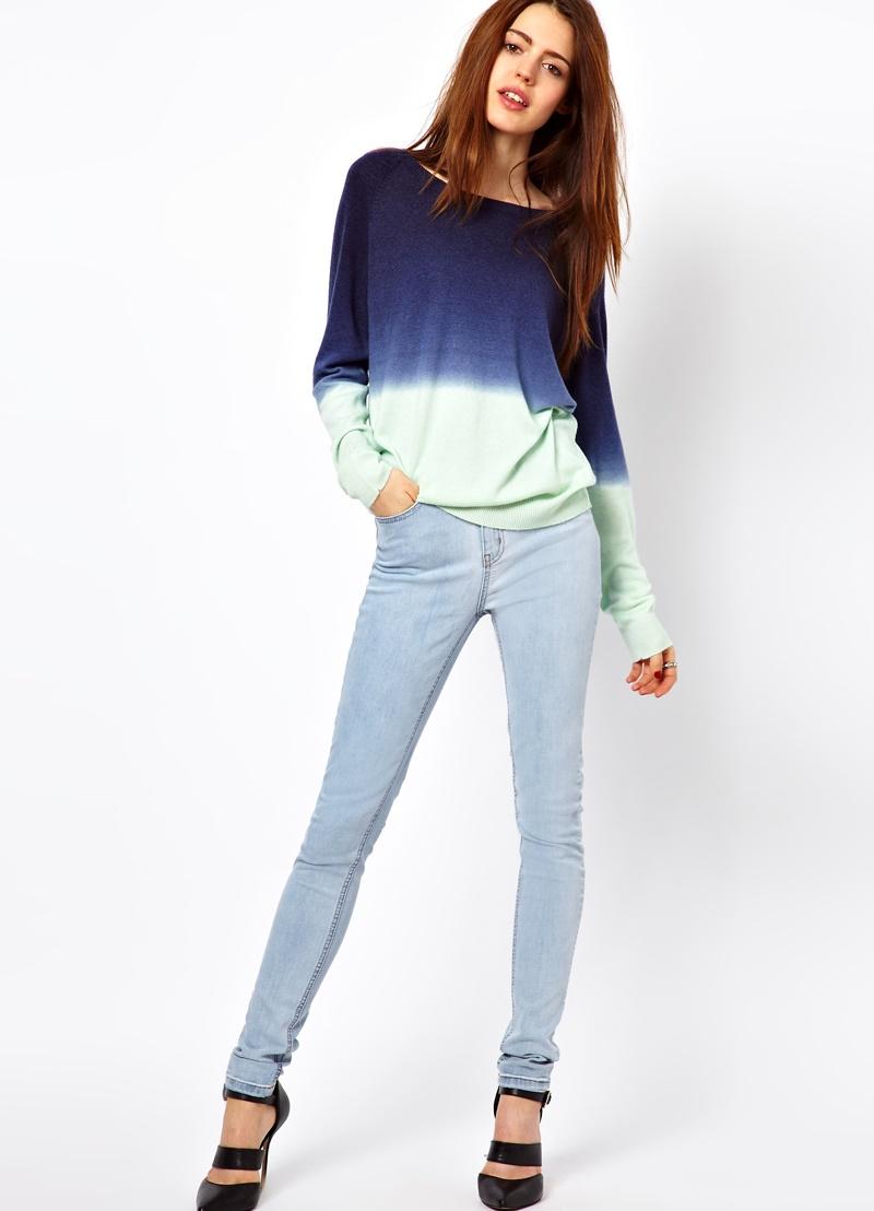 С чем носить джинсы с завышенной талией новые фото