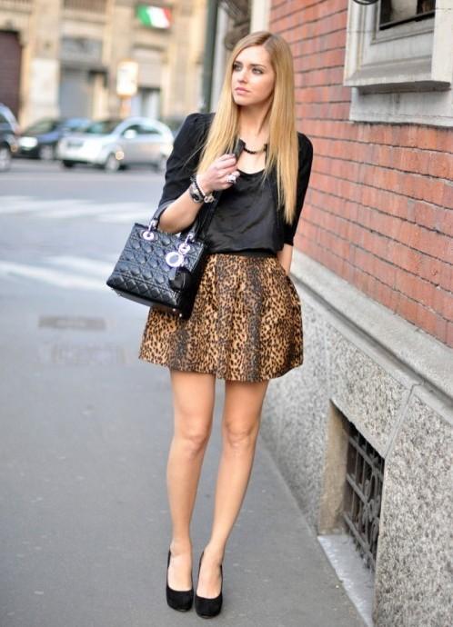 Леопардовую юбка с чем носить фото