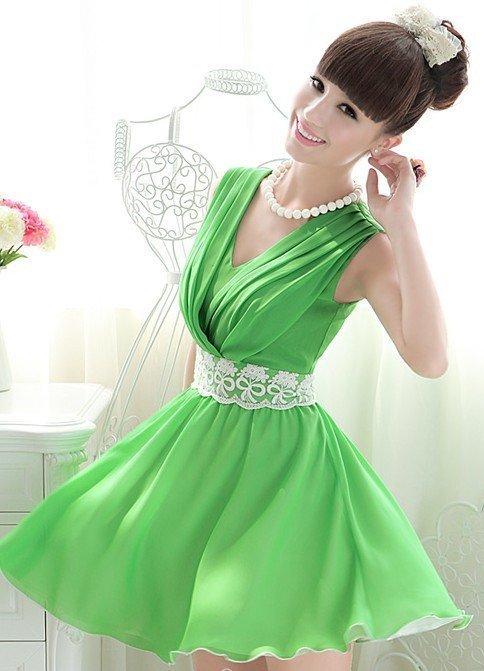 Зеленое платье своими руками