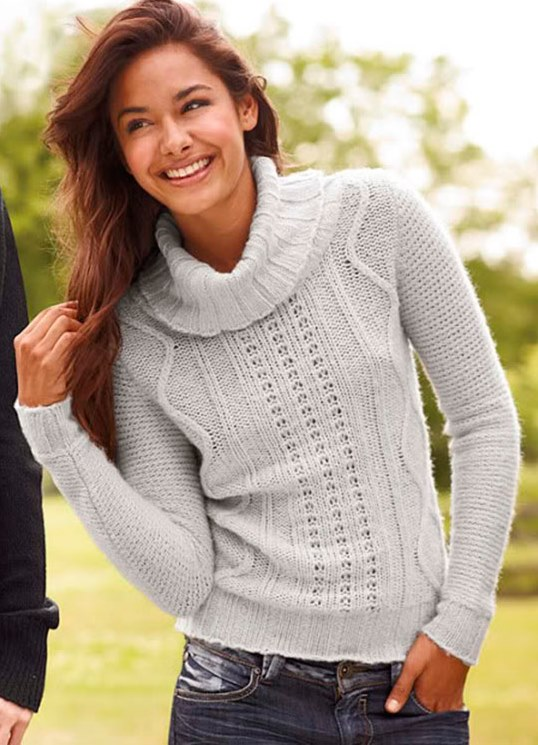 модный свитер женский фото, вязаный свитер спицами фото