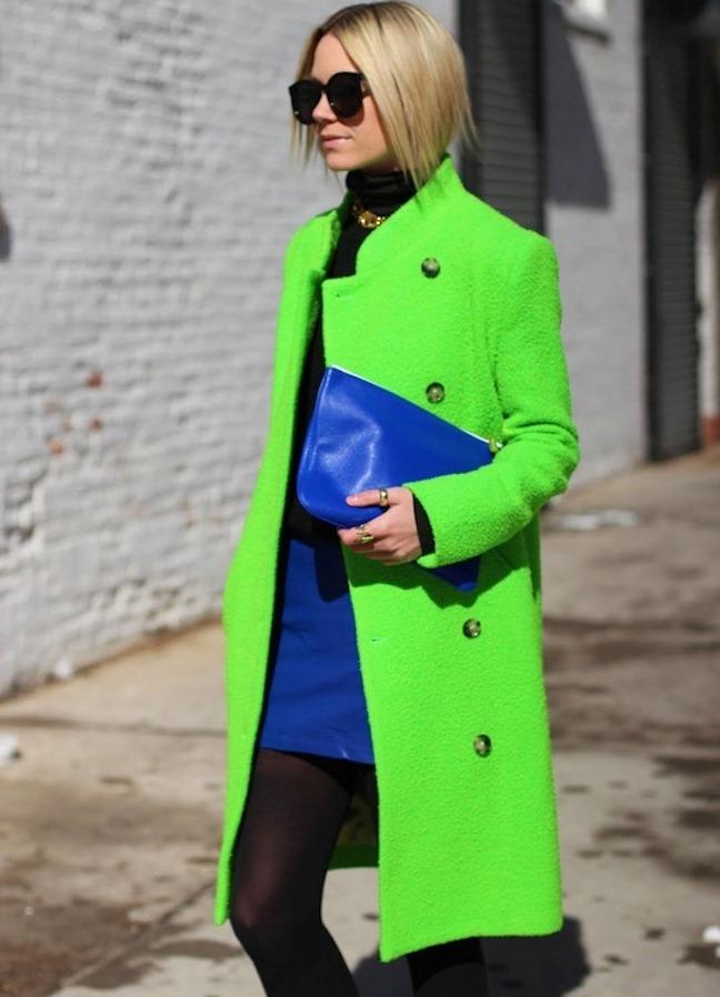 С чем носить зеленое пальто 2