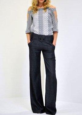 Широкие брюки с чем носить полным