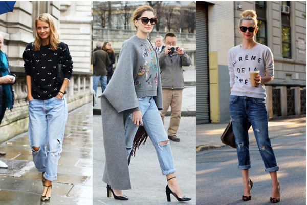 50 идей, с чем носить женские джинсы-бойфренды (фото).