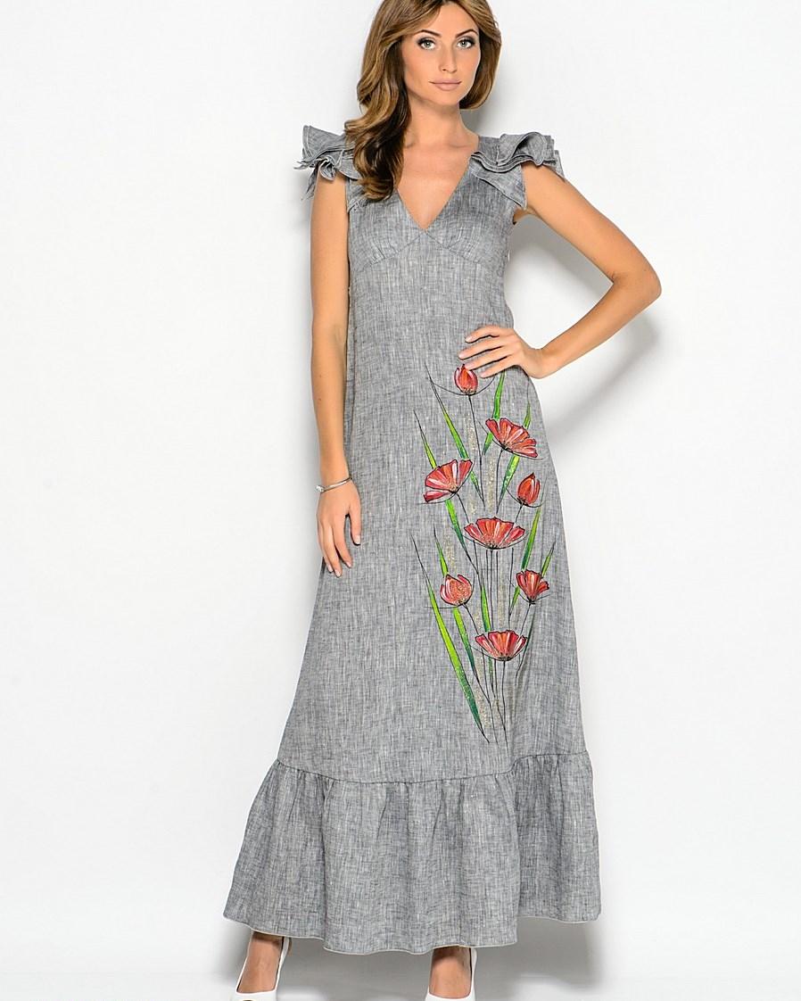 Платье льняное от дизайнера