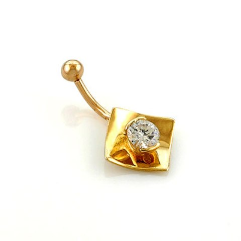Сережки для пирсинга пупка золото