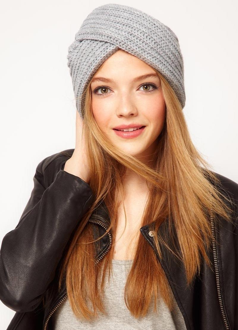 Модные вязаные шапки сезона осень-зима, фото фасонов для женщин 13