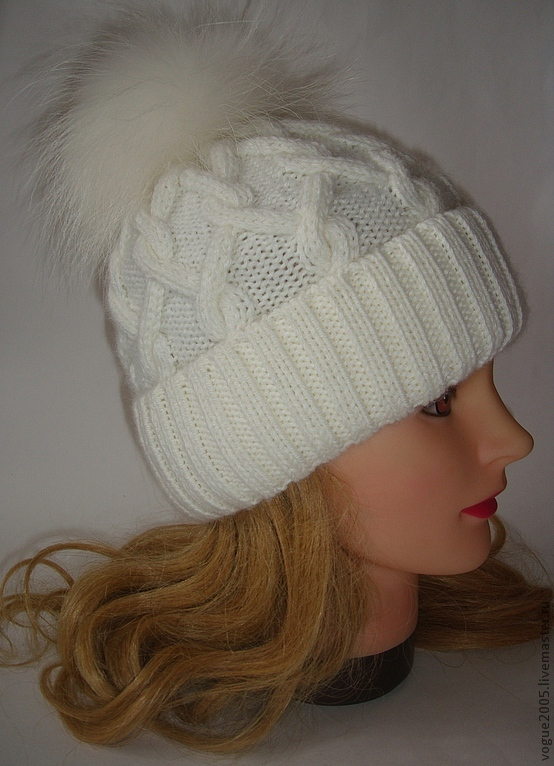 Вязание спицами шапок для девочек-подростков