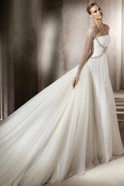 шикарные свадебные платья со шлейфом 4