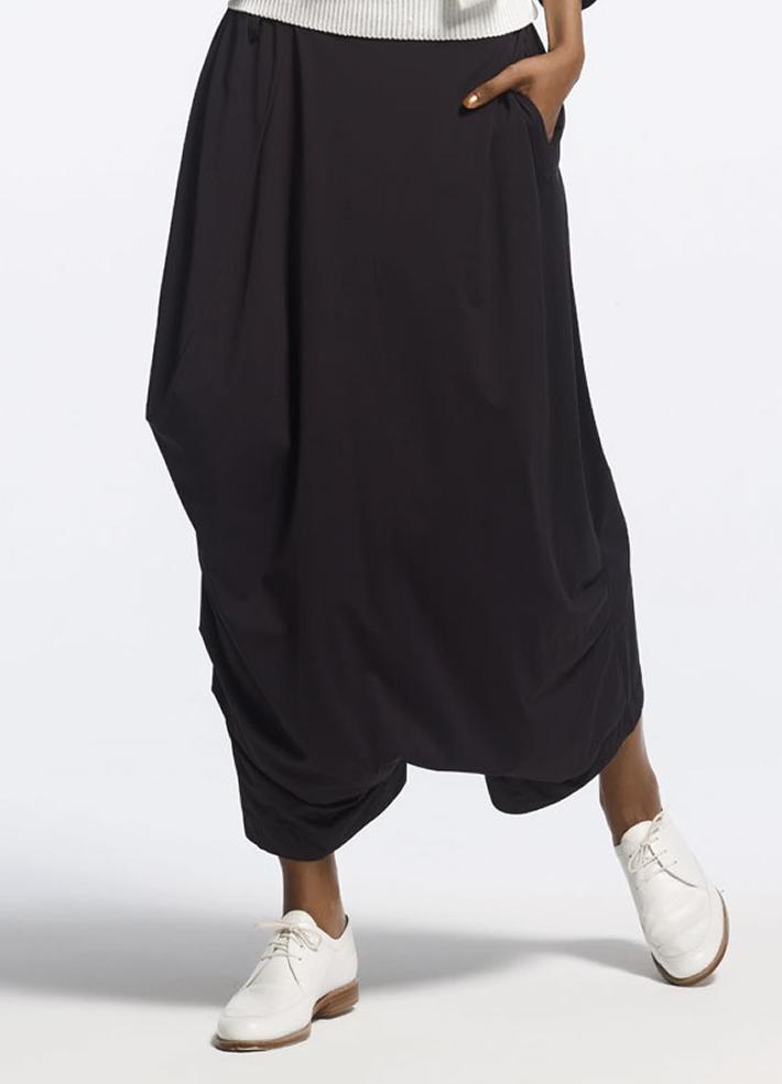 Юбка брюки с запахом для полных
