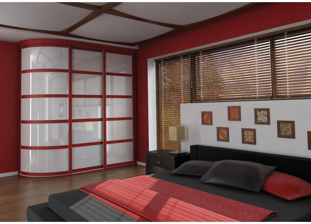 Вальмон: радиусные шкафы купе в красноярске на заказ, сферич.
