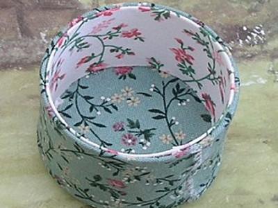 Сделать шкатулку для рукоделия из ткани своими руками