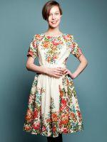 Штапельные платья в русском стиле