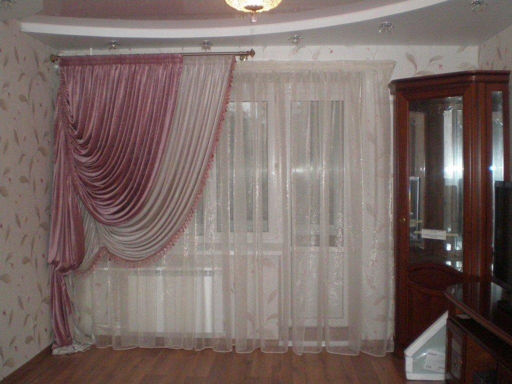 Образцы Штор В Зал Фото С Балконом - фото 3
