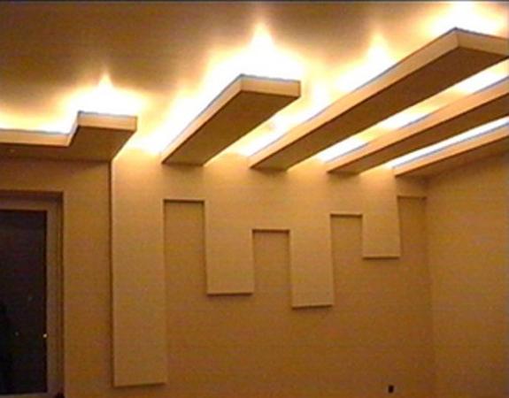Сделать потолок своими руками с подсветкой