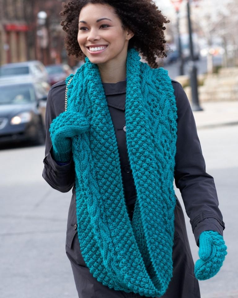 Хомут шарф в два оборота размеры