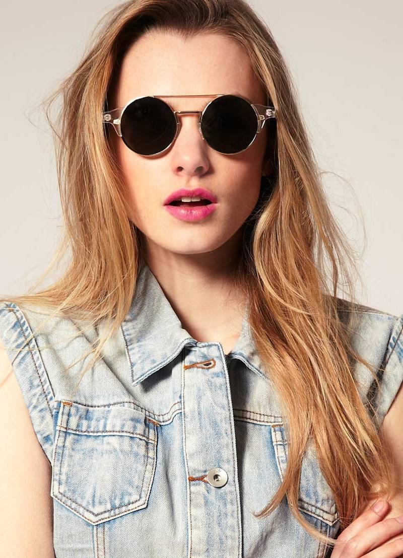 очки круглые солнцезащитные женские