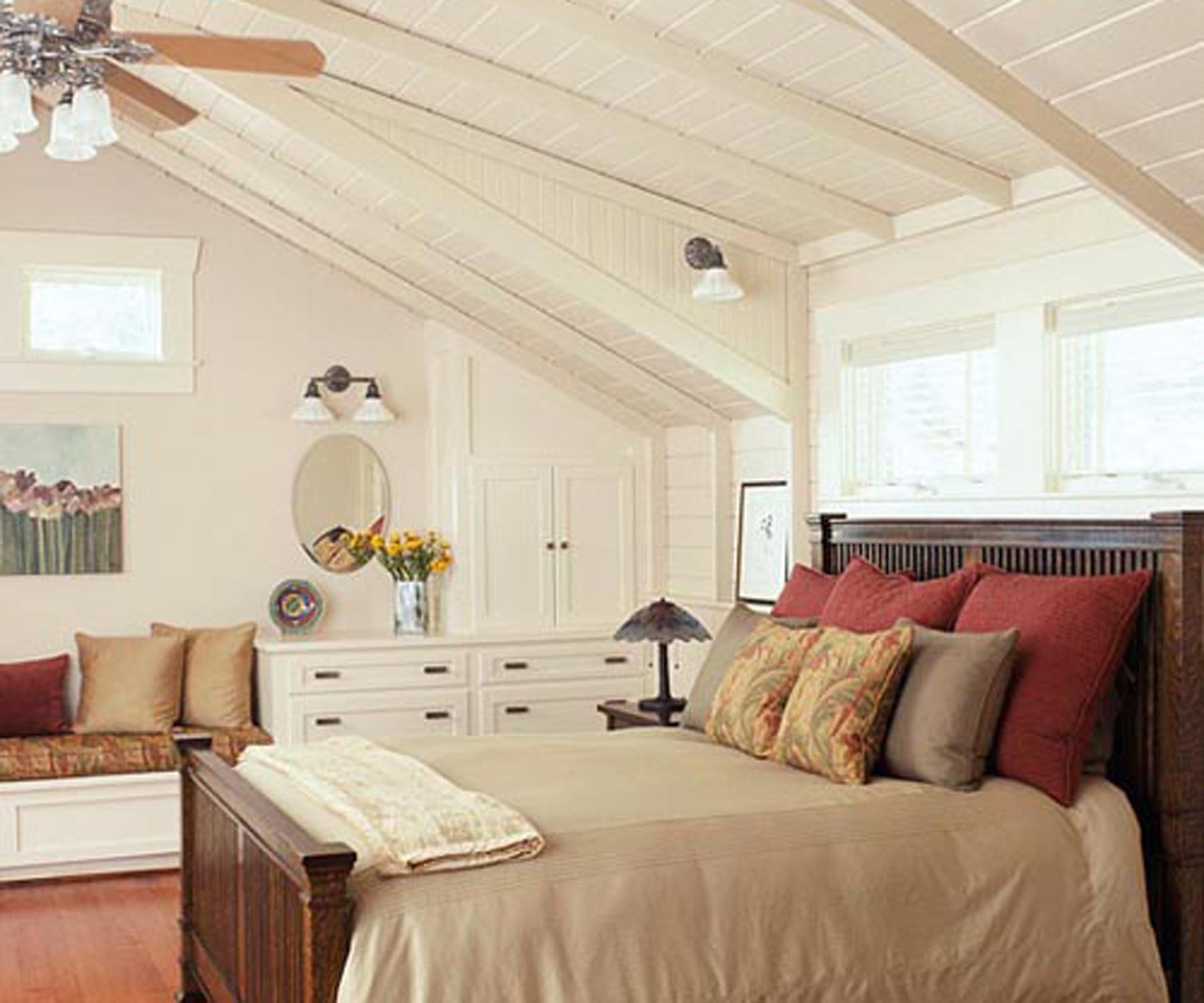 Спальня на мансарде фото