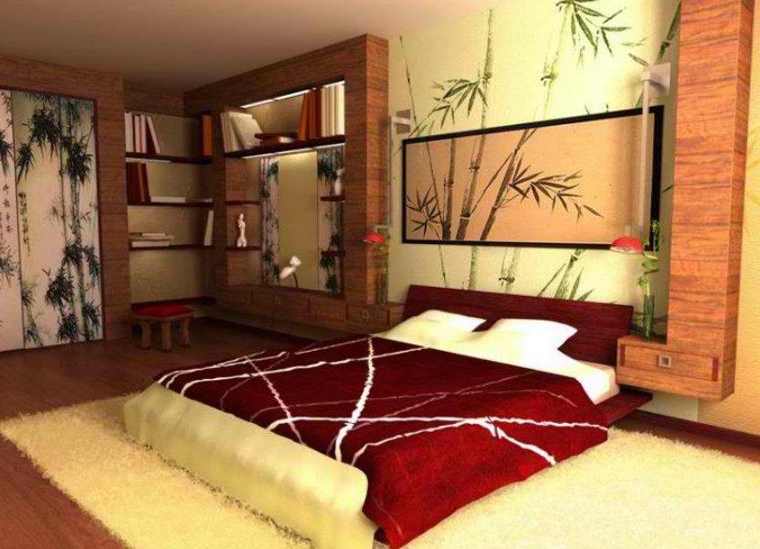 Дизайн в комнате в японском стиле