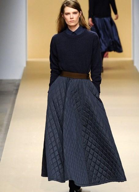 Стеганая юбка на синтепоне