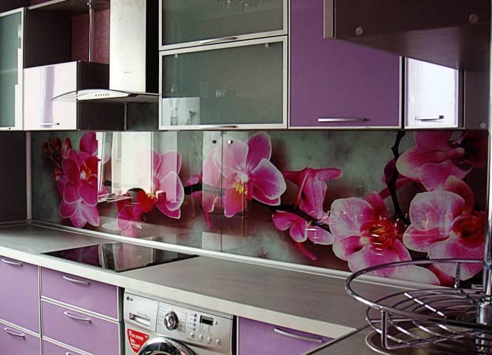 Фартук кухонный орхидеи