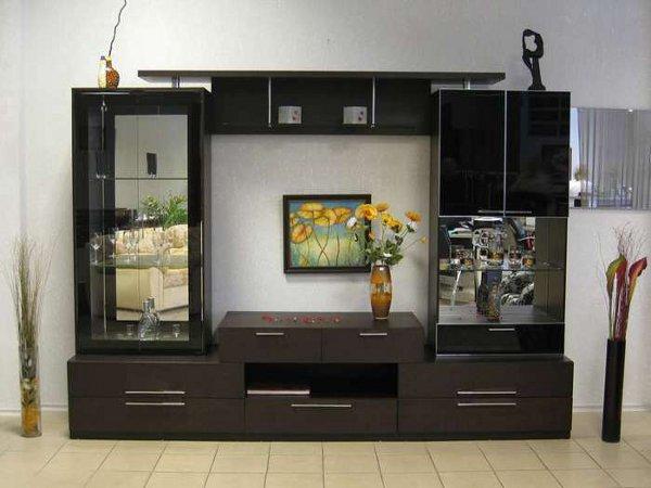 Фото модульных стенок для гостиных и зала Мебельные