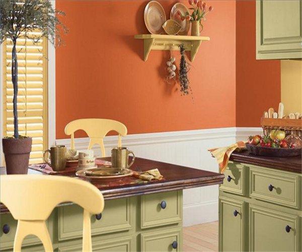 Как красить стены на кухне