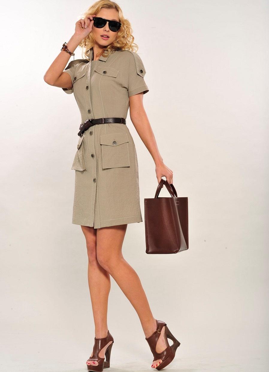 Платья стиля сафари купить