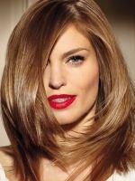 Стрижка средней длины для тонких волос фото