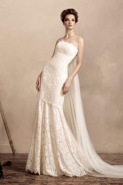 Свадебное платье цвета айвори 1