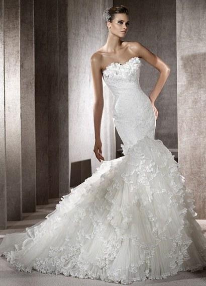 Изобр по > Роскошные Свадебные Платья Русалка