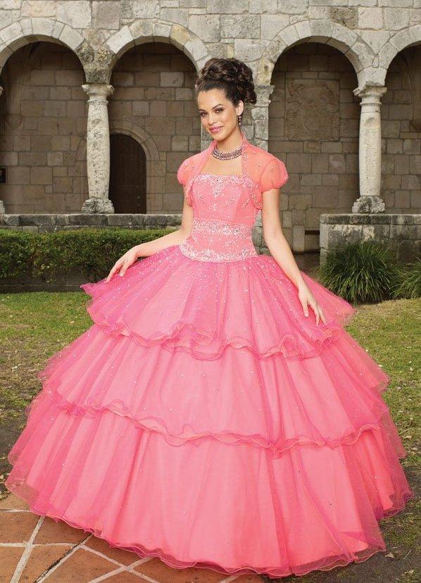 свадебное платье с розовым бантом 4