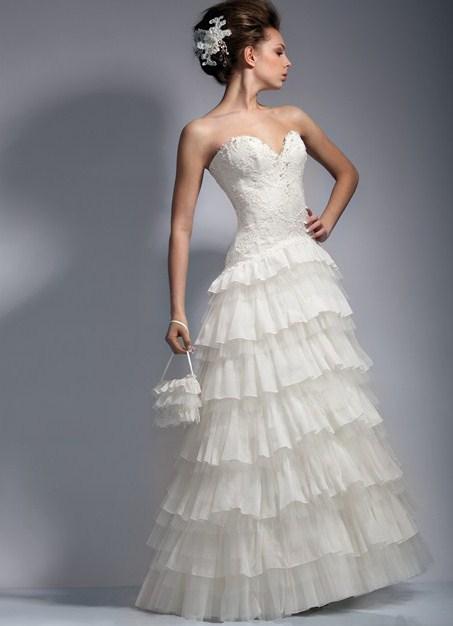 Свадебное платье в стиле кантри.