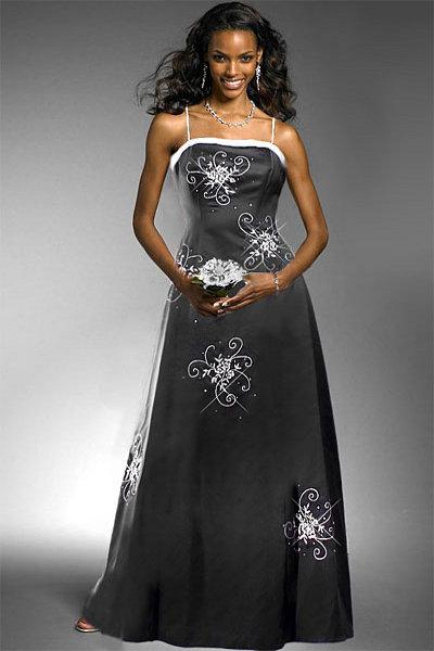 свадебные платья черно белые 5