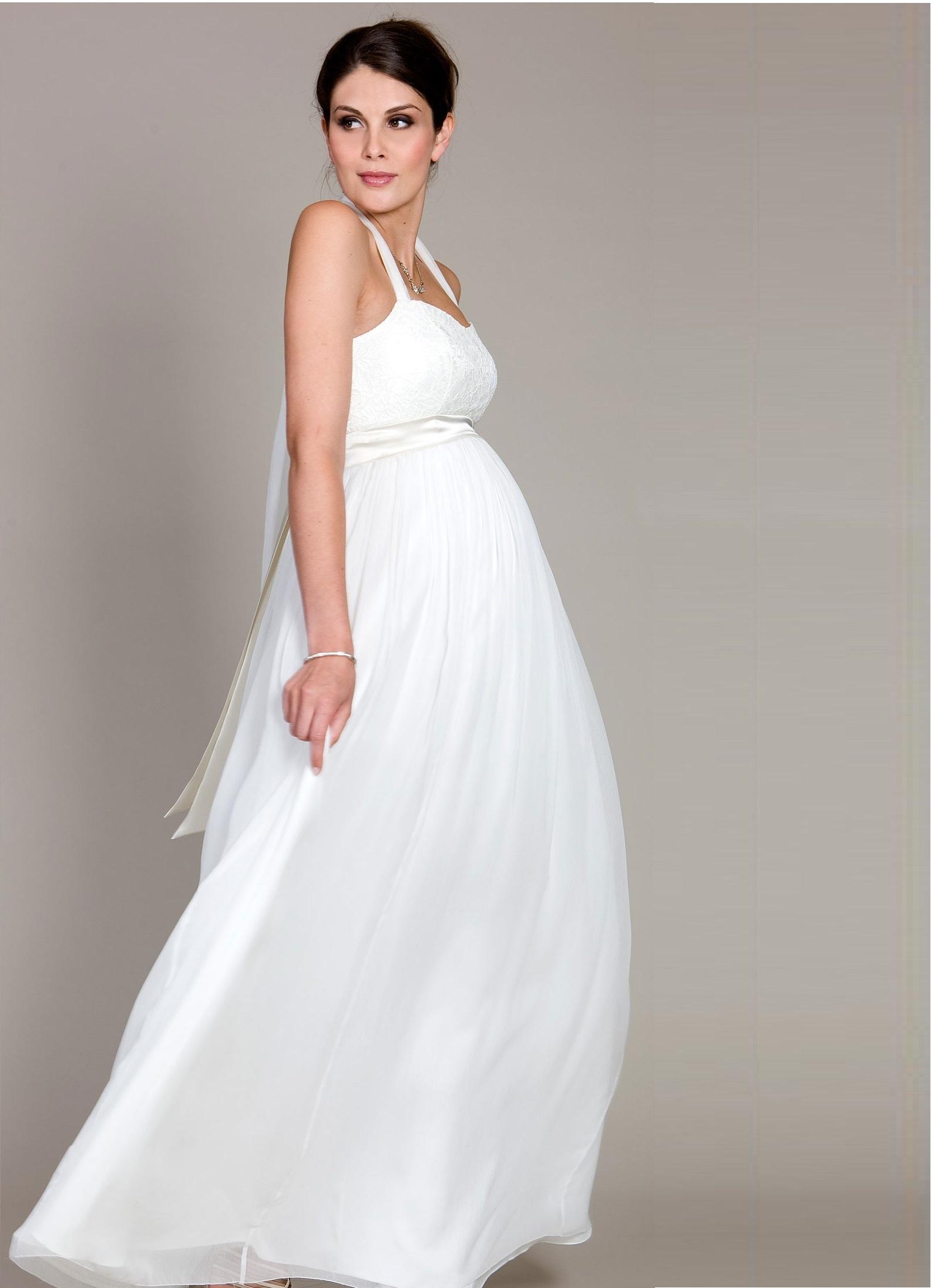 Идеи свадебных платьев для беременных 1094