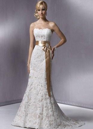 Свадебные платья с бантом 1