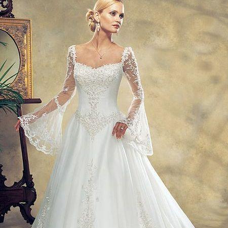 Свадебные платья с длинным рукавом 2