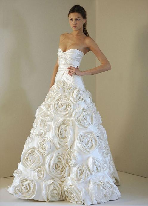 Платье Из Белых Роз 97