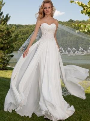 Свадебные платья 2015 с воздушной юбкой