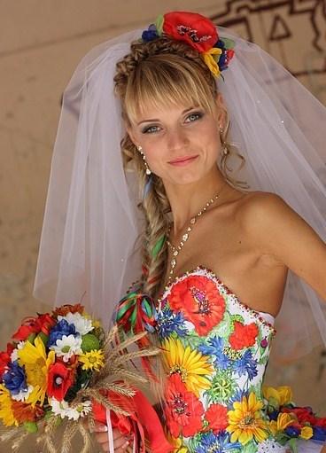 Свадебные платья в украинском стиле 1