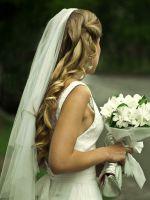 Свадебные прически с фатой 2015