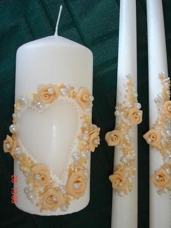 Украсим свечи своими руками на свадьбу