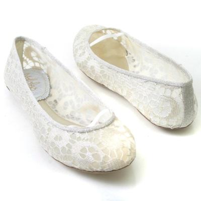 Свадебные туфли без каблука 2