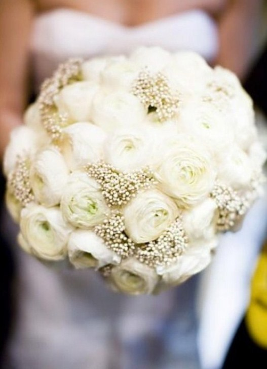 Белый букет невесты своими руками