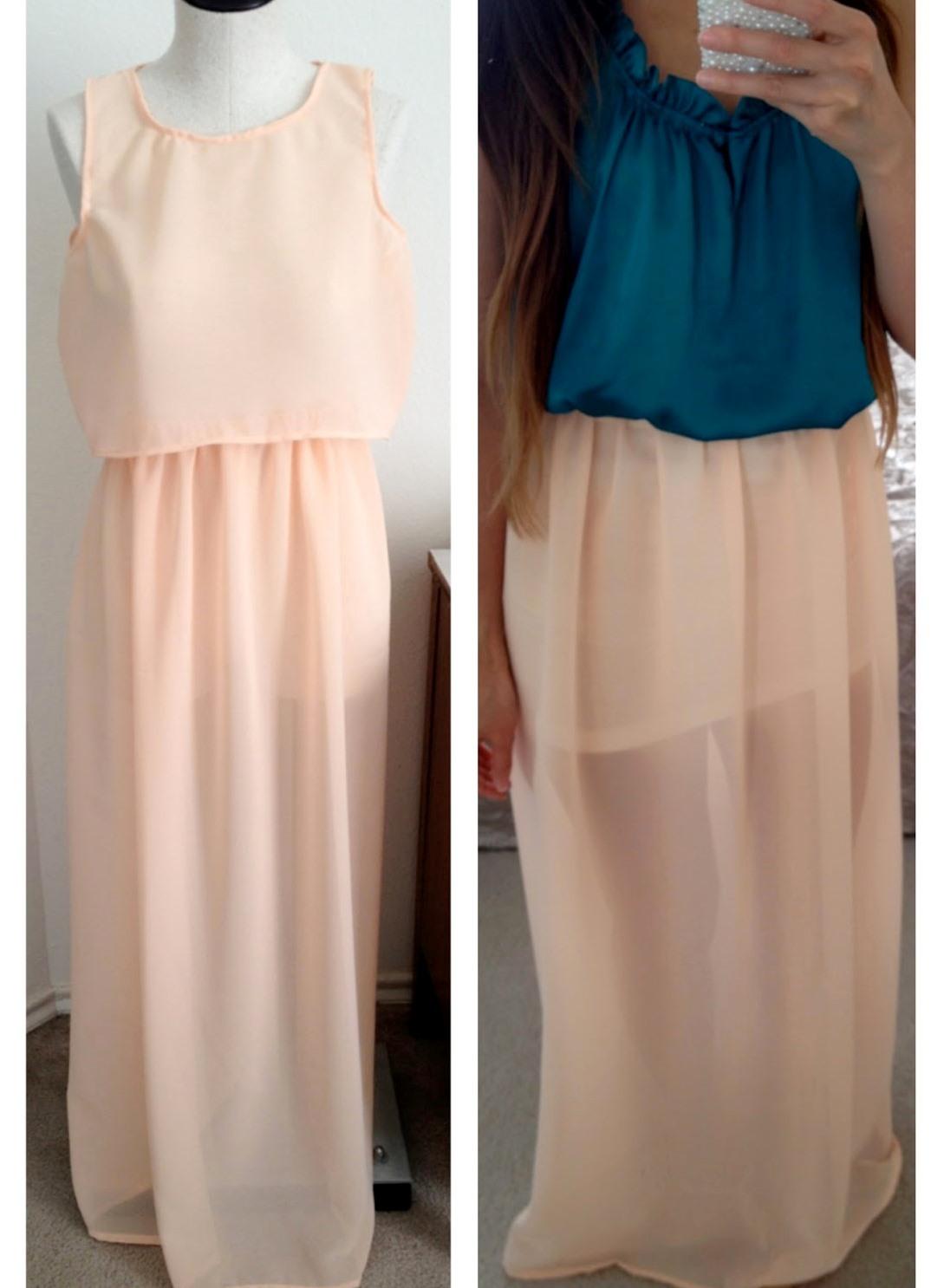 Длинное платье из шифона как сшить