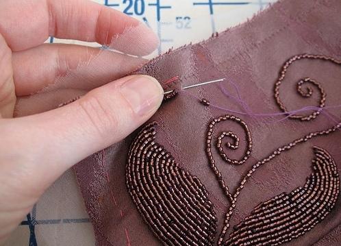 Красивый узор для вышивки бисером